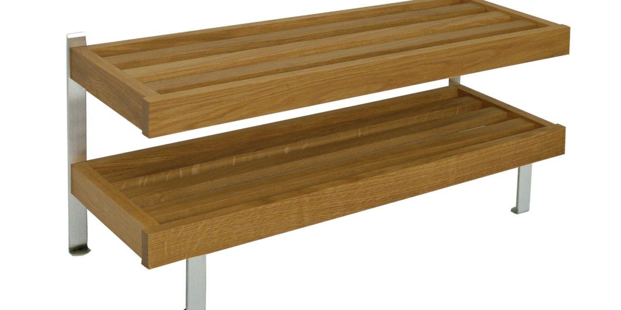 FURBO Nadja – dobbelt skohylde, gulvmodel, 60 cm. Eg