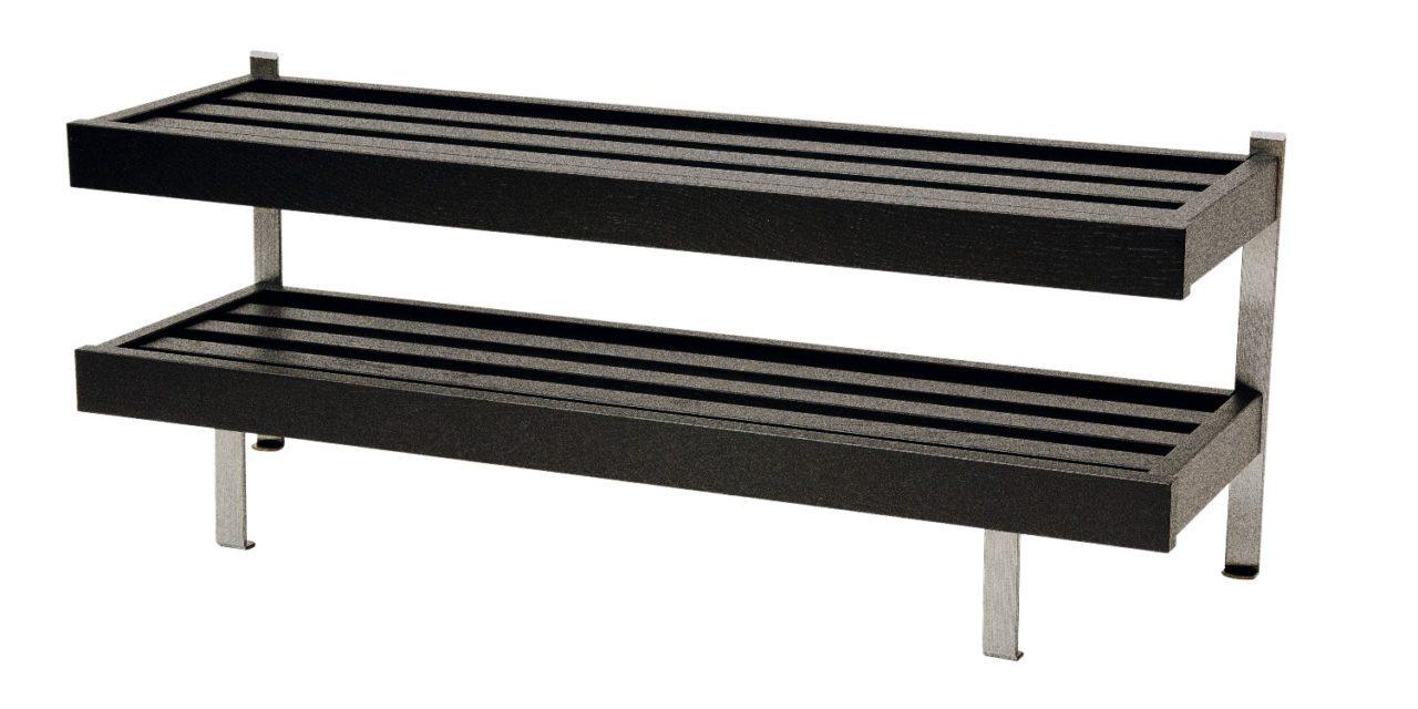 FURBO Nadja – dobbelt skohylde, gulvmodel, 100 cm. Sort