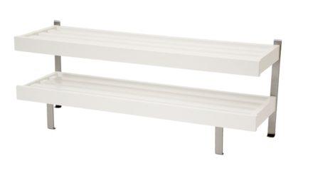FURBO Nadja – dobbelt skohylde, gulvmodel, 50 cm. Hvid