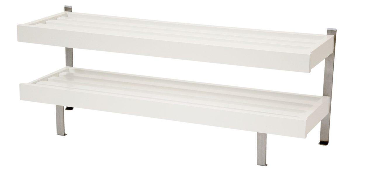 FURBO Nadja – dobbelt skohylde, gulvmodel, 80 cm. Hvid