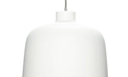 HÜBSCH Hvid aluminium lampe