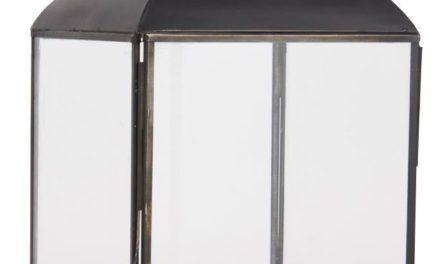 IB LAURSEN Christian lanterne – sort metal og glas