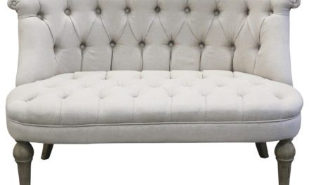CHIC ANTIQUE Fransk Sofa i hørstof 2 pers.