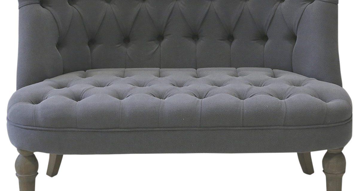 CHIC ANTIQUE Fransk sofa i hørstof 2 pers.