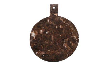 Marmor skærebræt brun.