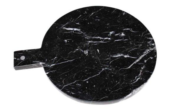 Marmor skærebræt sort,