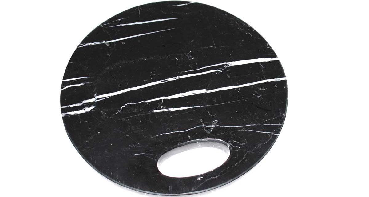 Marmor skærebræt sort.