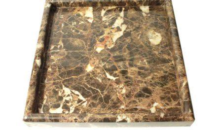 Dunos marmor fad softet kant firkantet brun