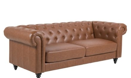 Charlietown retro sofa, 3 pers. – cognac læderlook