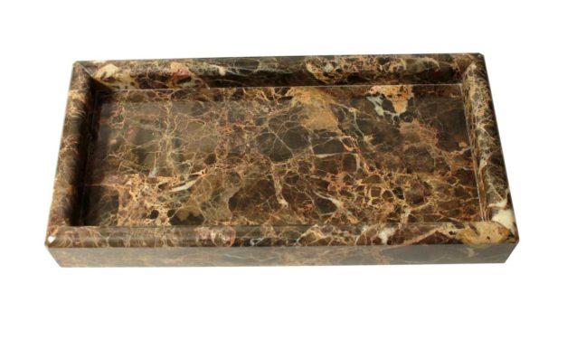 Dunos marmor fad softet kant rektangulær brun