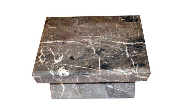 Marmor sofabord – grå