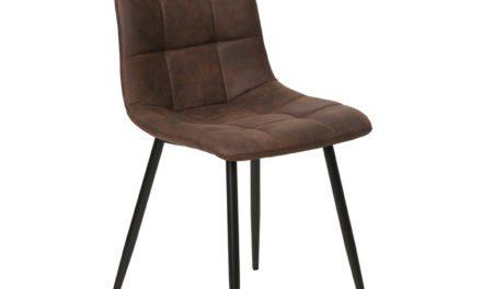 HOUSE NORDIC Middelfart spisebordsstol – mørkebrunt mikrofiber stof