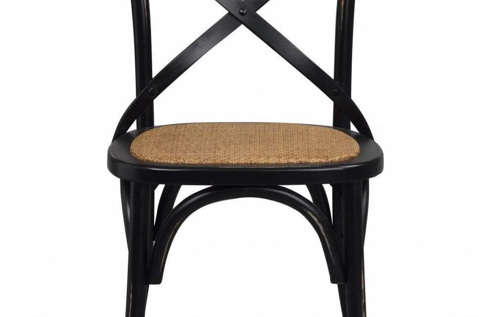 Gaston spisebordsstol – sort vintage