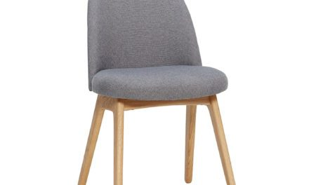 HÜBSCH Mørkegrå stol m/træben