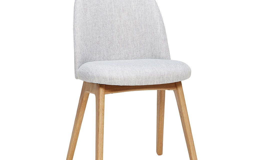 HÜBSCH Lysegrå stol m/træben