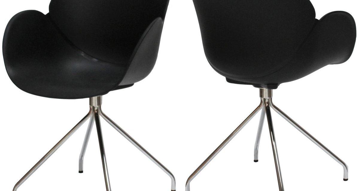 CANETT Oliver spisebordsstol m. armlæn – Sort