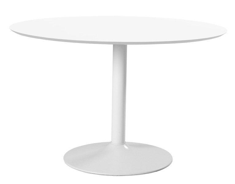 IBIZA rundt hvidt spisebord