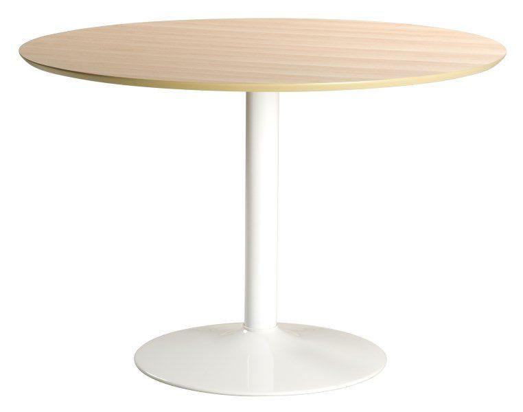 IBIZA rundt spisebord, Natur/hvid