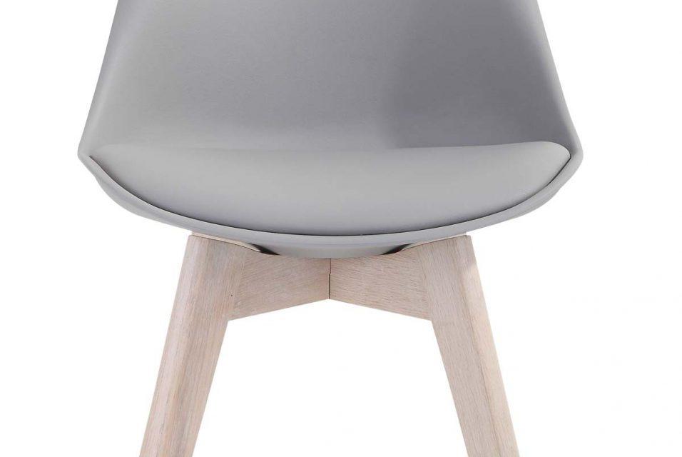 Mia spisebordsstol, grå/eg