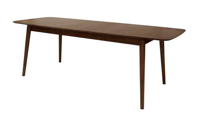 MONTREUX spisebord – valnøddefarvet, m. butterflybordplade (180×90)