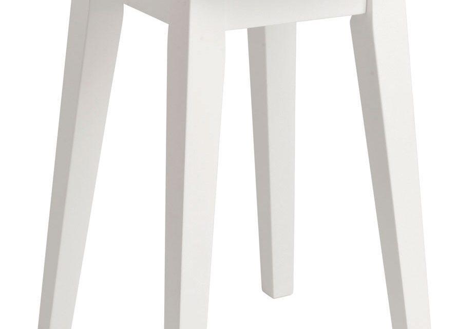 Confetti skammel – hvidt birk