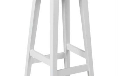 Confetti barstol – hvidlakeret birk
