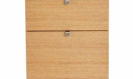 Confetti kommode – olieret eg, smal m. 5 skuffer
