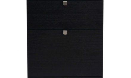Confetti kommode – sort eg, smal m. 5 skuffer