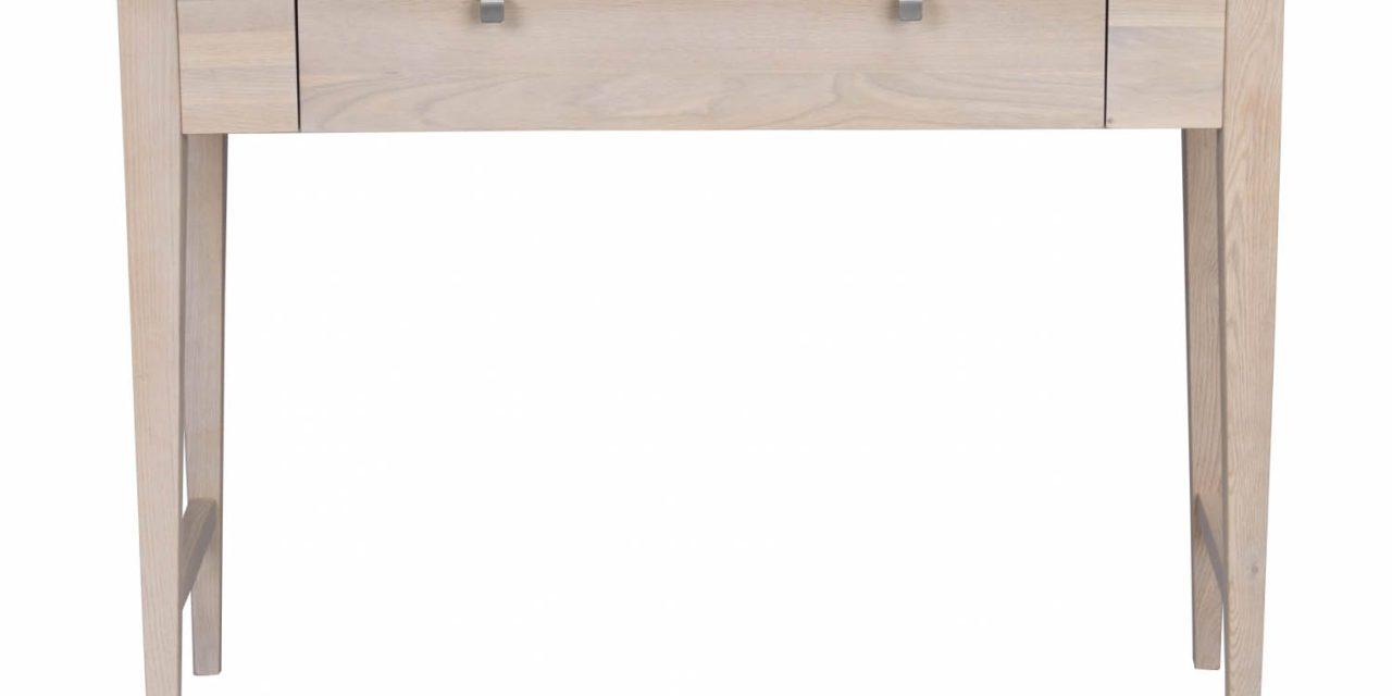 Confetti konsolbord – hvidpigmenteret eg, m. skuffe
