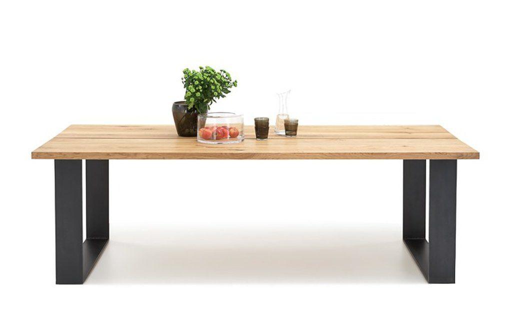 BODAHL Woodstock plankebord – 2-delt bordplade, m. udtræk 240 x 100 cm U-ben