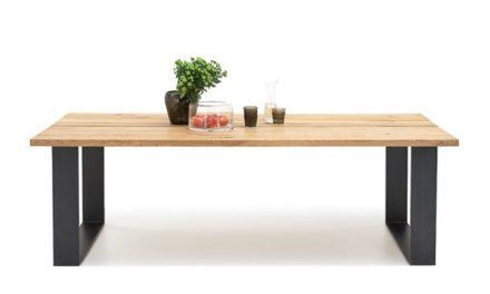 BODAHL Woodstock plankebord – 2-delt bordplade, m. udtræk 220 x 100 cm U-ben
