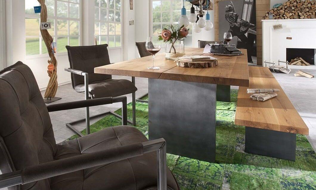 BODAHL Woodstock plankebord – 2-delt bordplade, m. udtræk 200 x 100 cm T-ben