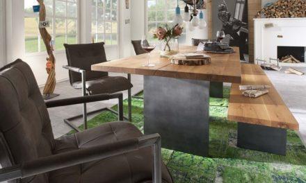 BODAHL Woodstock plankebord – 2-delt bordplade, m. udtræk 220 x 100 cm T-ben