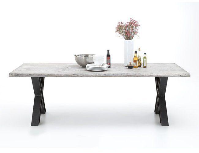 BODAHL Woodstock plankebord – bark kant, m. udtræk 220 x 100 cm X-ben