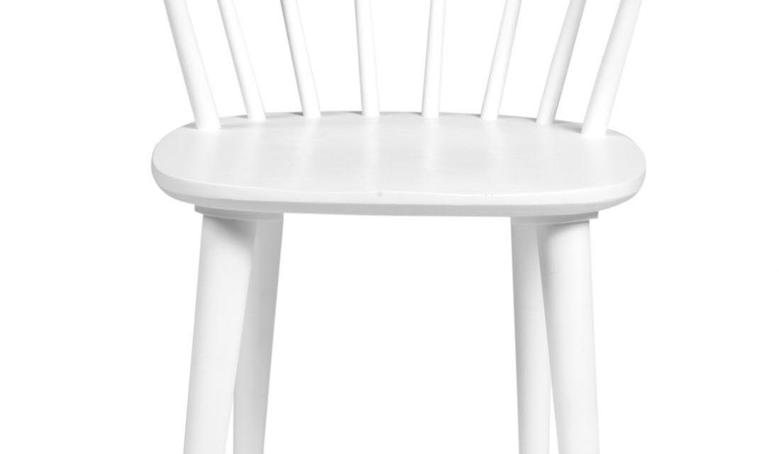 Carmen spisebordsstol – hvidt træ, m. armlæn