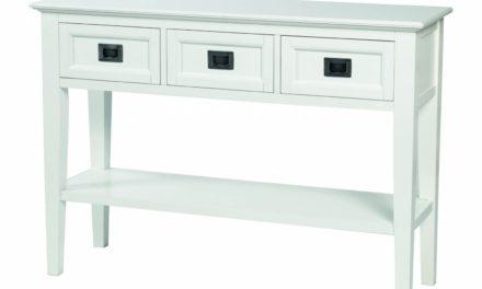 Koster konsolbord – hvid m. 3 skuffer