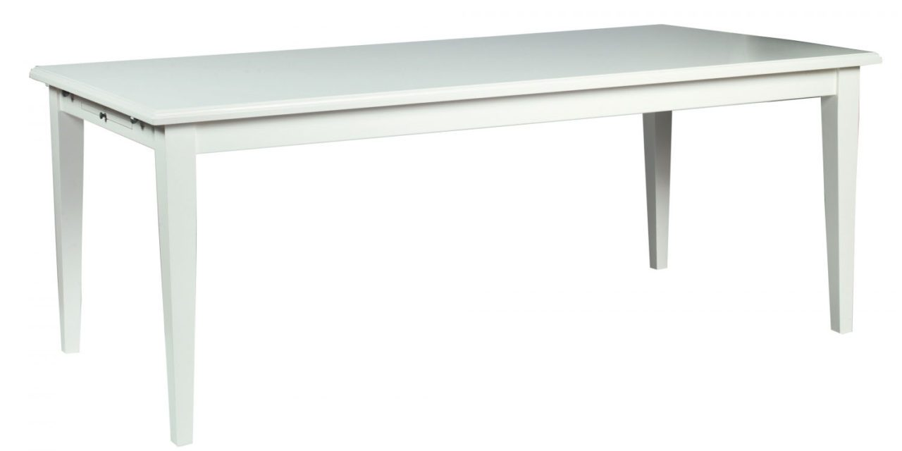 Koster spisebord – hvid m. udtræk (200×100)