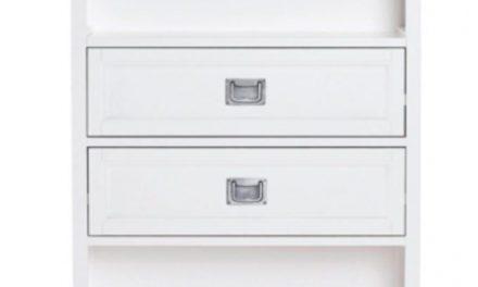 Koster bogreol – hvid m. 2 skuffer