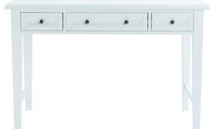 Koster skrivebord – hvid m. 3 skuffer