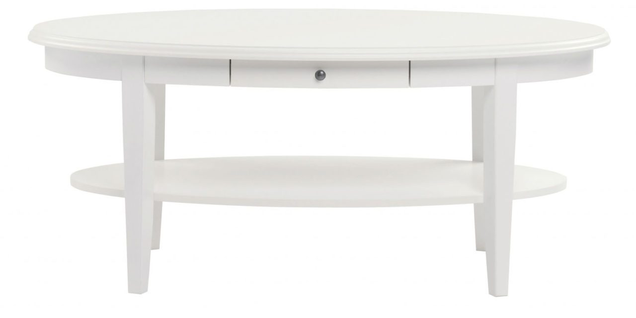 Koster sofabord – hvid, oval (120×65)