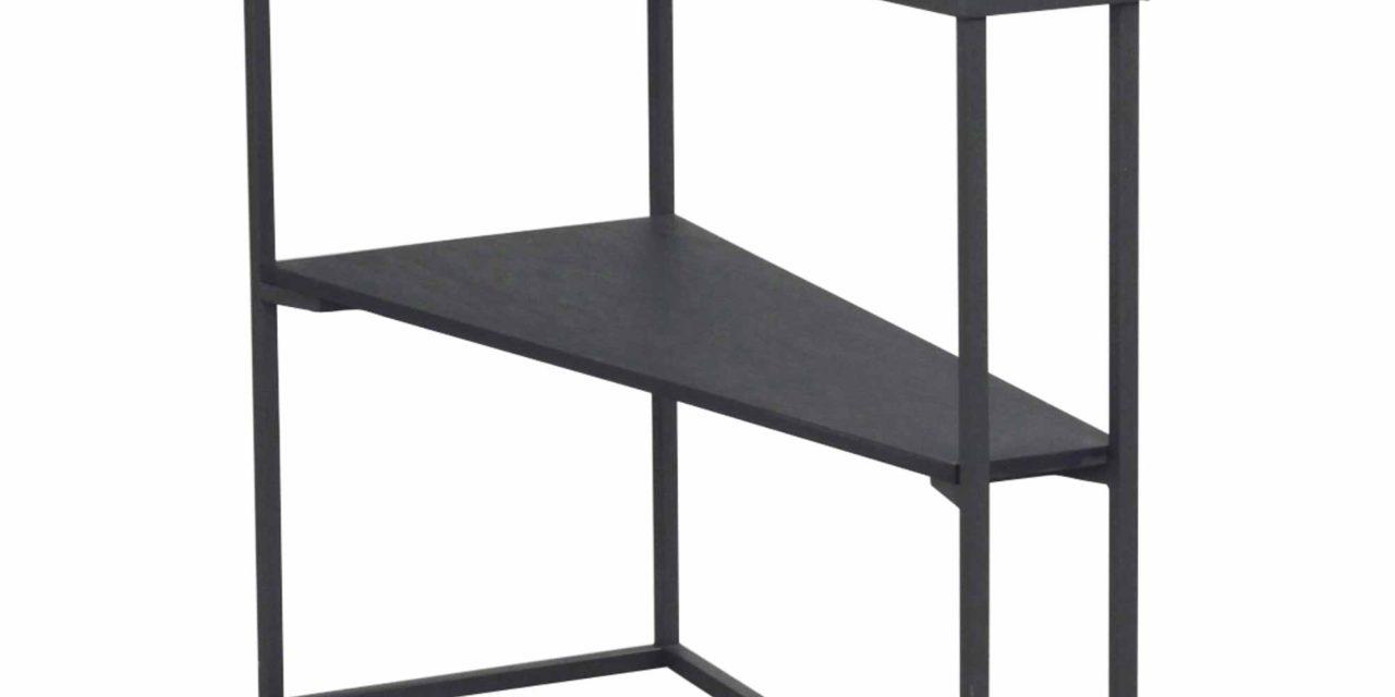 Rowico Pebble sidebord i flot fiberbeton og metal