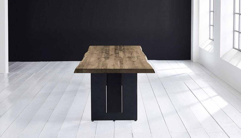 Concept 4 You Plankebord – Barkkant Eg med Steven ben, m. udtræk 6 cm 220 x 100 cm 04 = desert