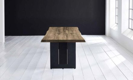 Concept 4 You Plankebord – Barkkant Eg med Steven ben, m. udtræk 6 cm 180 x 100 cm 04 = desert