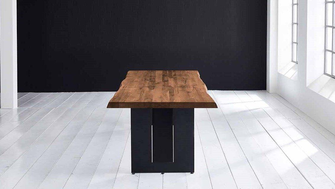Concept 4 You Plankebord – Barkkant Eg med Steven ben, m. udtræk 6 cm 260 x 100 cm 06 = old bassano