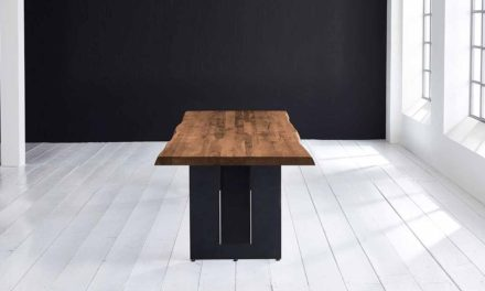 Concept 4 You Plankebord – Barkkant Eg med Steven ben, m. udtræk 3 cm 200 x 100 cm 01 = olie