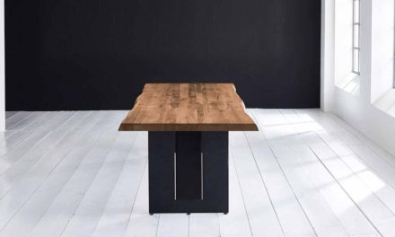 Concept 4 You Plankebord – Barkkant Eg med Steven ben, m. udtræk 6 cm 200 x 100 cm 01 = olie