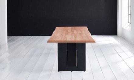 Concept 4 You Plankebord – Barkkant Eg med Steven ben, m. udtræk 6 cm 200 x 100 cm 03 = white wash