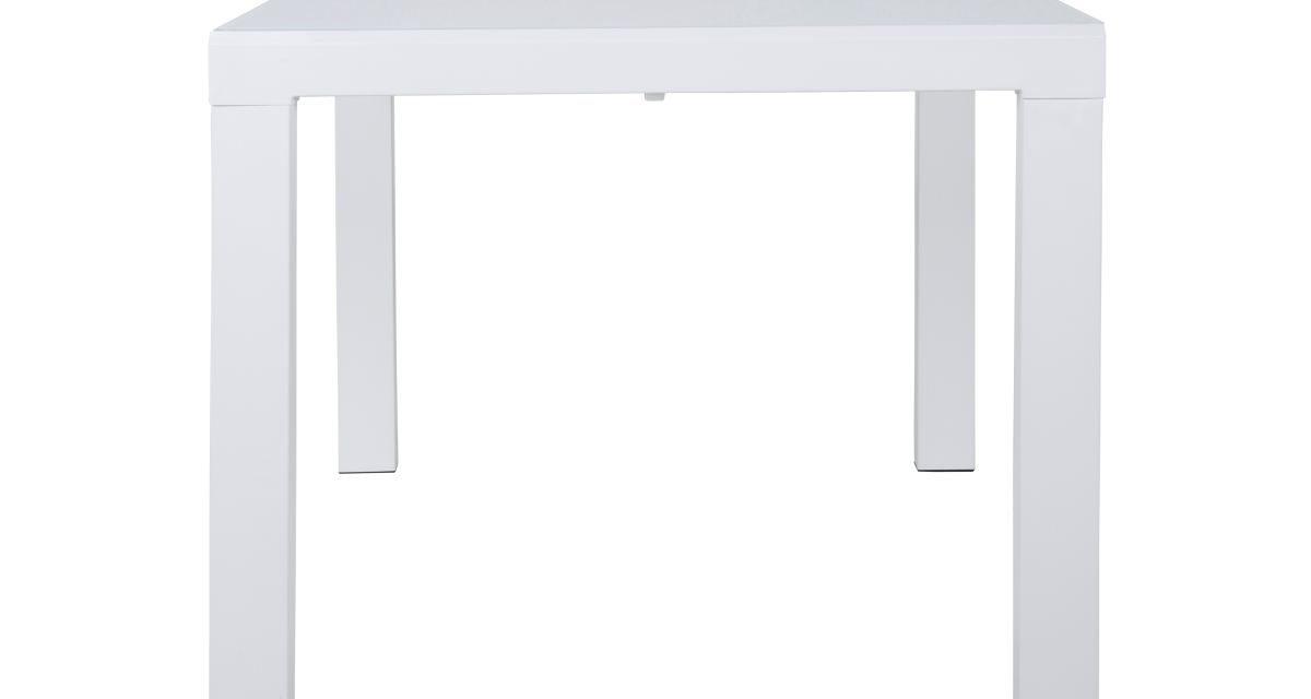 CANETT Lissabon spisebord – hvid, incl. tillægsplade