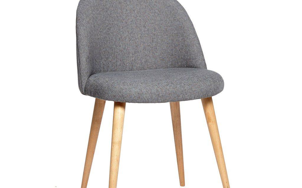 HÜBSCH Grå stol m/træben