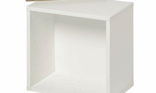 MANIS-H Lille reol – hvid kvadratisk, til væg eller gulv